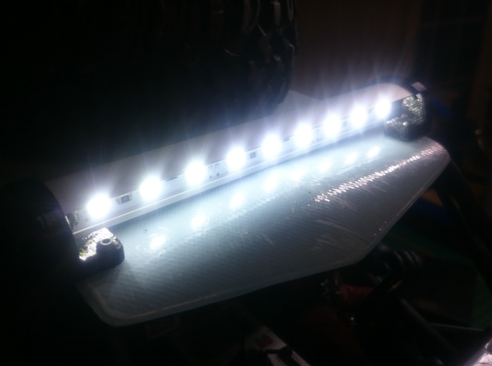 Axial Wraith LED extrusion holder 3d printed