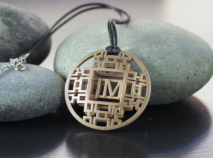 Personalized Initial Pendant for One or Couple 3d printed