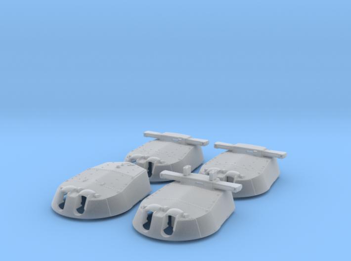 "1/128 HMS Vanguard MKI* 15"" Turrets only 3d printed 1/128 HMS Vanguard MKI* 15"" Turrets only"
