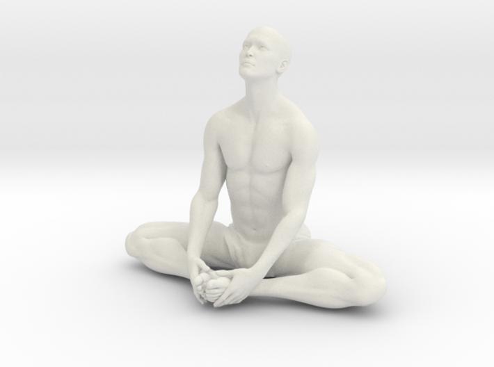 Male yoga pose 013 3d printed