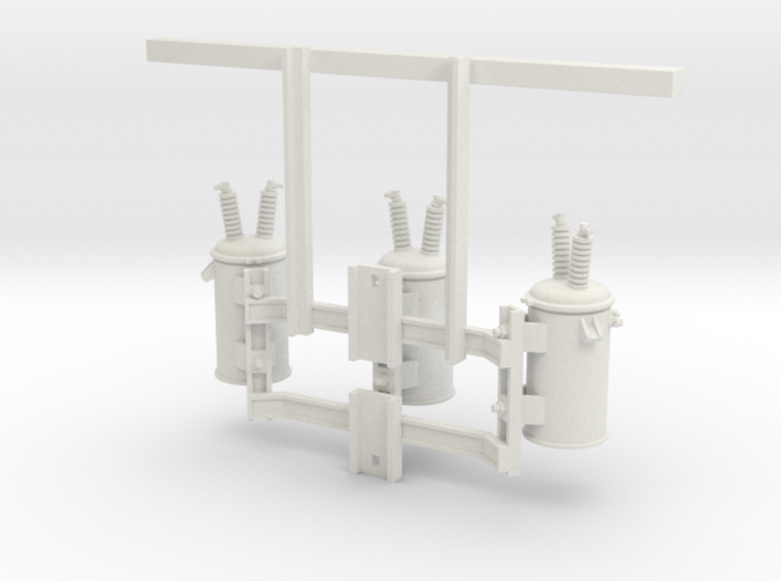 3 Phase Overhead Transformer 1:24 3d printed
