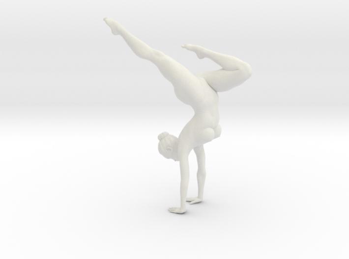 Female yoga pose 004 3d printed