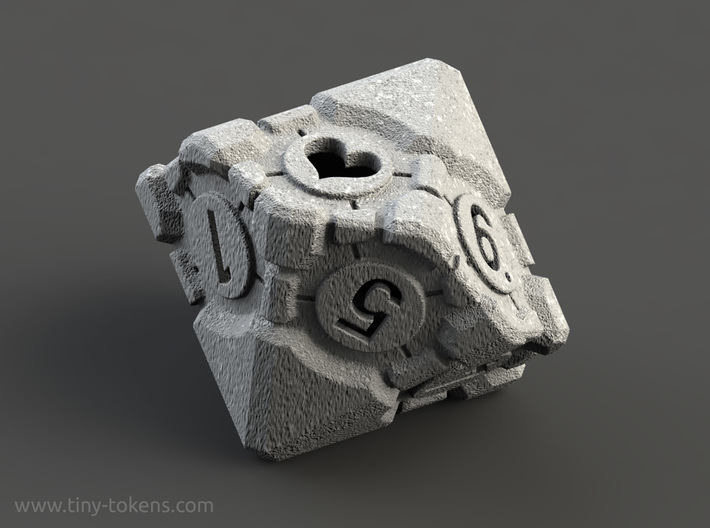 Spindown Companion Cube D10 - Portal Dice 3d printed
