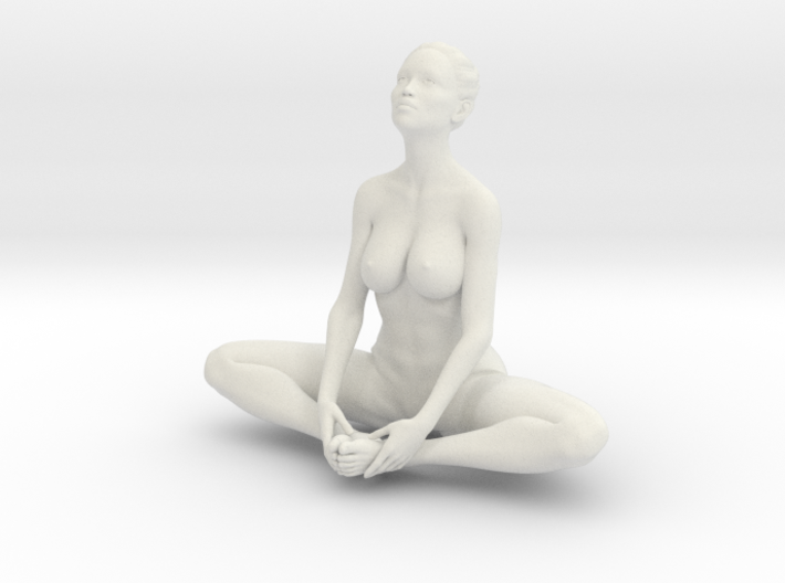 Female yoga pose 010 3d printed