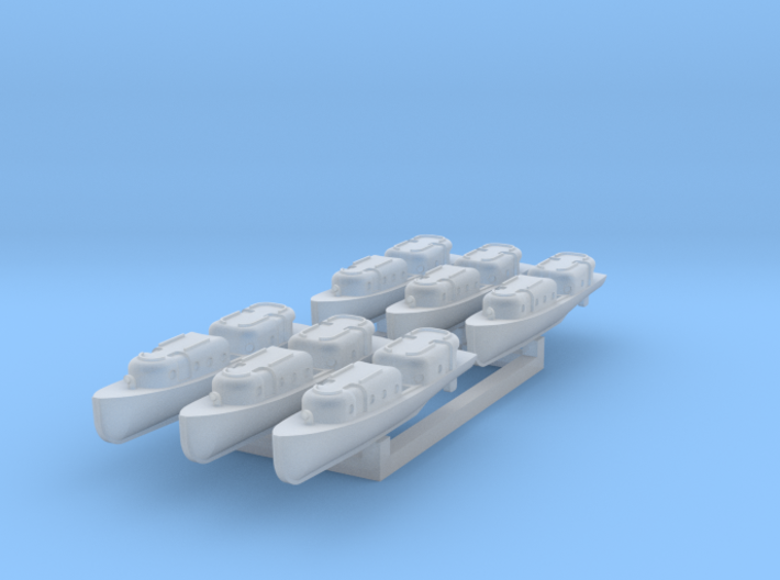 US Navy 40ft motor boat with closed canopy 1/700 3d printed