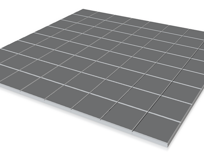 15mm Scale Floor Tiles 12m Square Room 3d printed