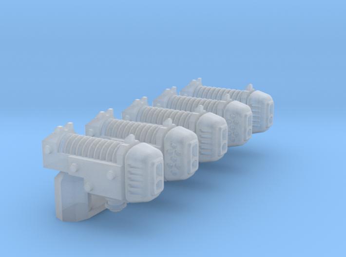 Human-sized Plasma Coilpistol x5 3d printed