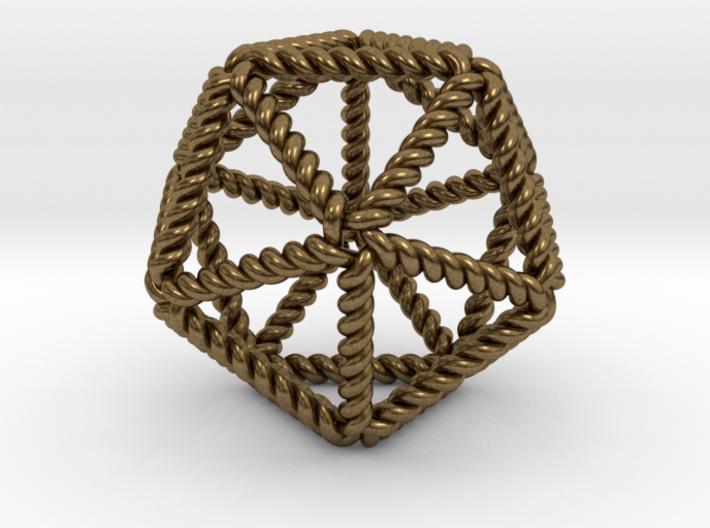 "Twisted Icosahedron 2"" RH 3d printed"