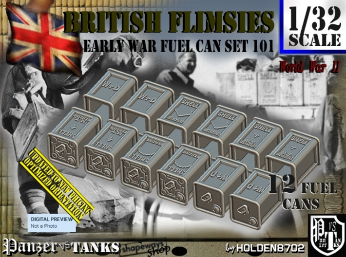 1/32 British Flimsies Can Set101 3d printed