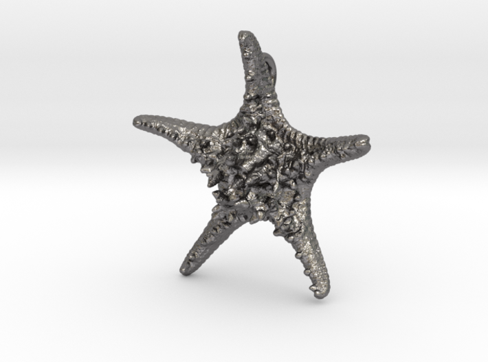 Knobby Starfish Pendant 3d printed