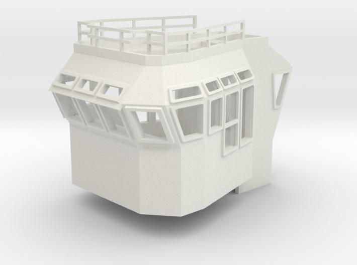Bridge Superstructure 1/87 H0 fits Harbor Tug 3d printed