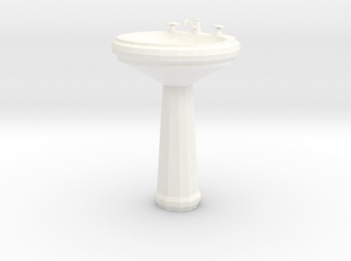 'Finer Fare' Pedestal Sink 1:12 Dollhouse 3d printed