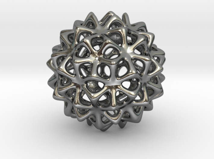 Snow Ball - Bead Pendant 3d printed