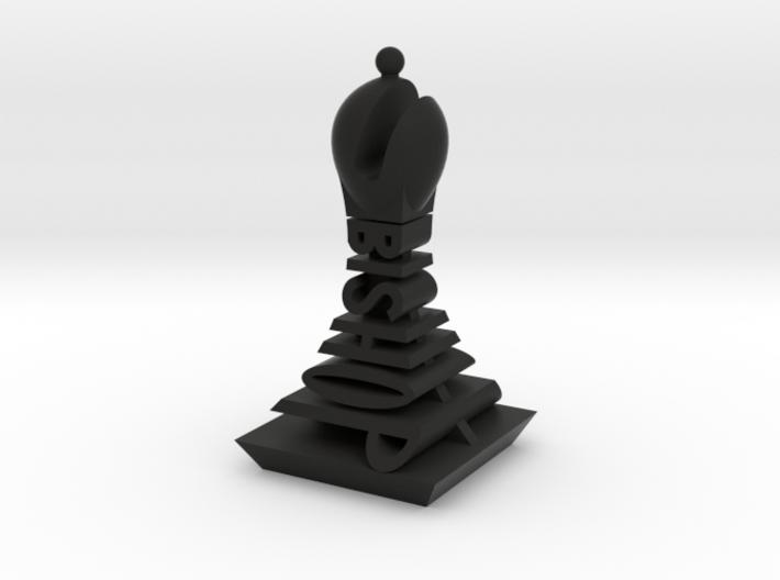 Modern Chess Set - BISHOP 3d printed