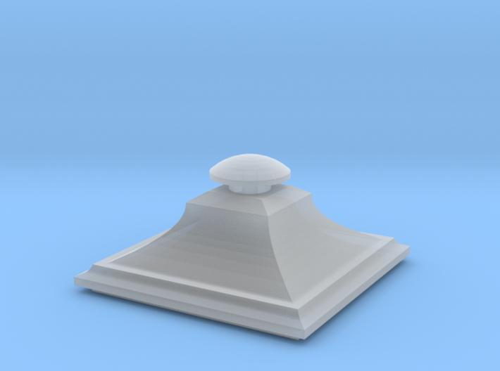 Wrought iron Street Lamp Cap 3d printed
