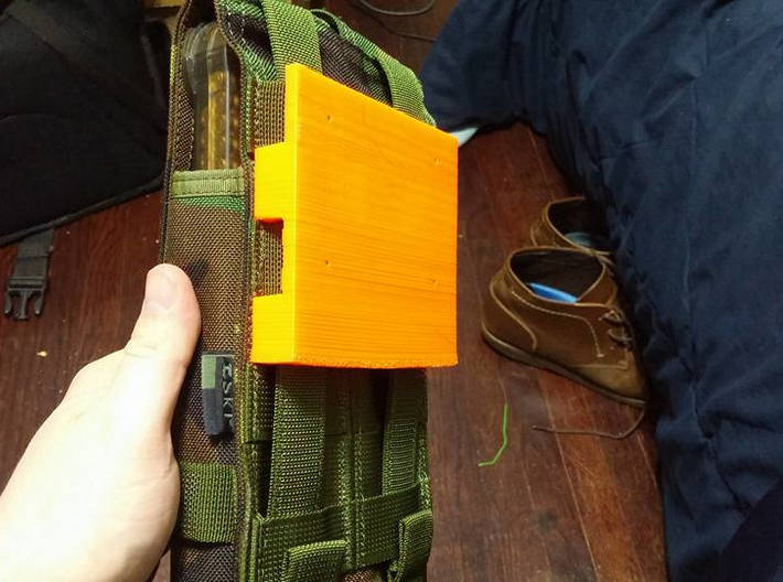 Wall-Mounted MOLLE/PALS Mounting System (3 x 2) 3d printed