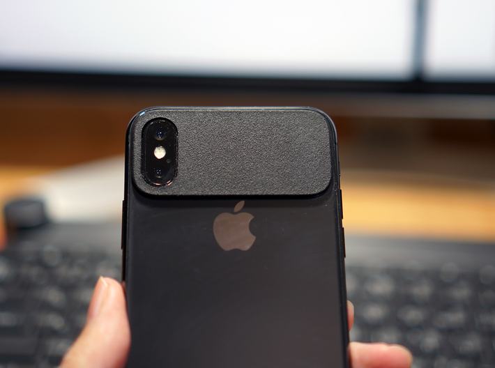 MINIMALPAD minimal bumper protector for iPhone X 3d printed Protect your iPhone X body and Lenz by minimal pad shape.