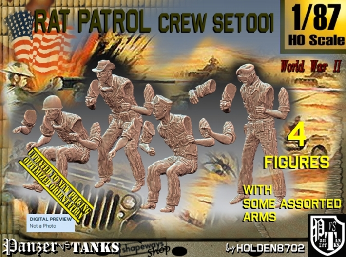 1/87 Rat Patrol Crew Set001 3d printed