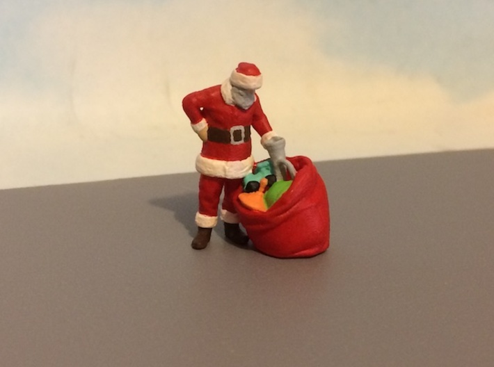 Santa Claus With Toy Bag (S) 3d printed