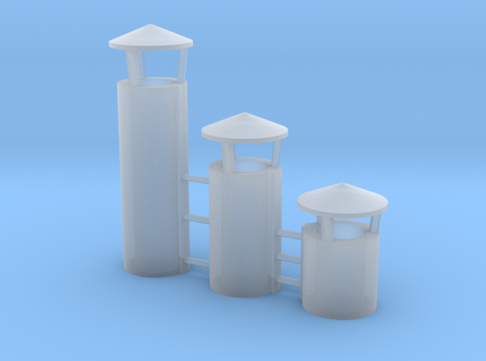 Industry Roof Vent CONICAL TOP O Scale 3d printed