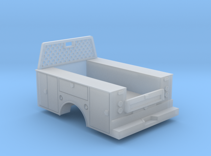 Standard Full Box Truck Bed W Cab Guard 1-64 Scale 3d printed