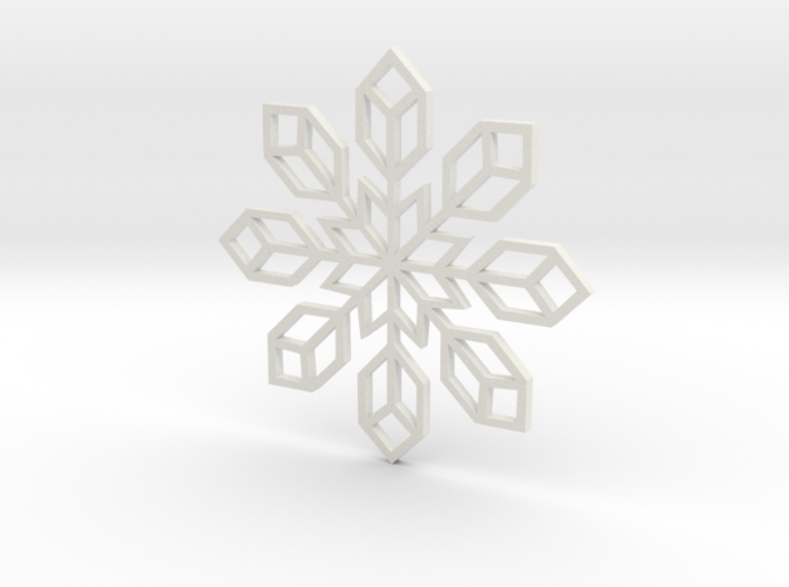 Snowflake 2 3d printed