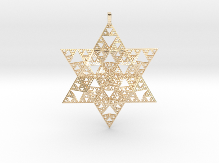 Sierpenski Star of David Ornament 3d printed