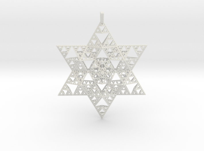 Sierpenski Star of David Ornament 3d printed