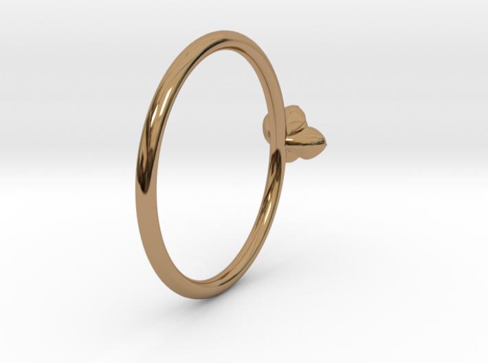 Petite Succulent Ring 3d printed