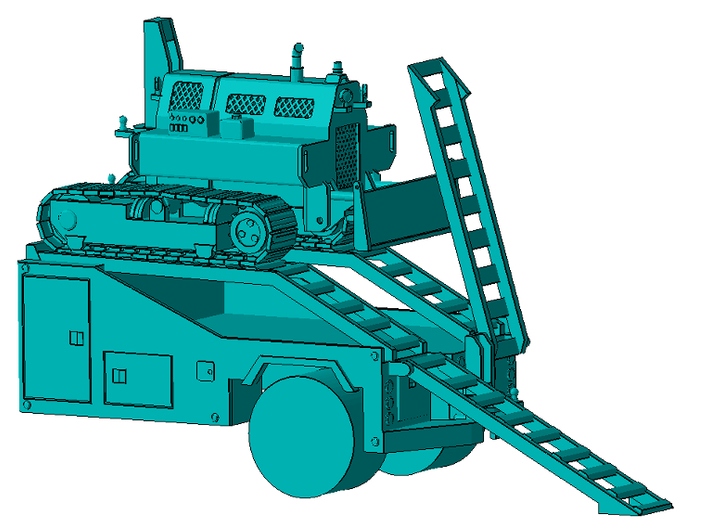 1/50th Mobile Home tug or equipment truck body 3d printed Shown with tug (available separately)