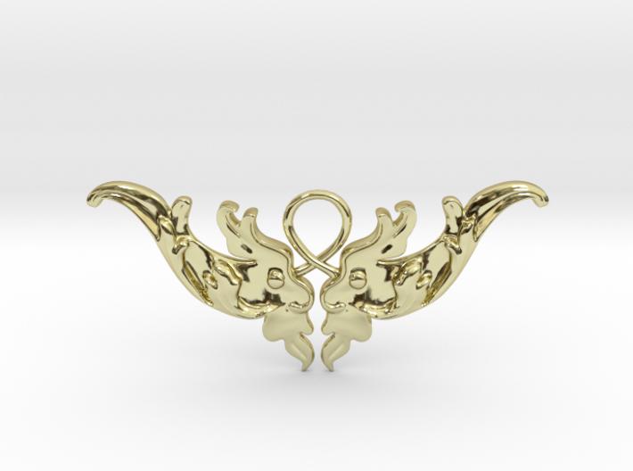 Baroque Motif 1 Pendant 3d printed