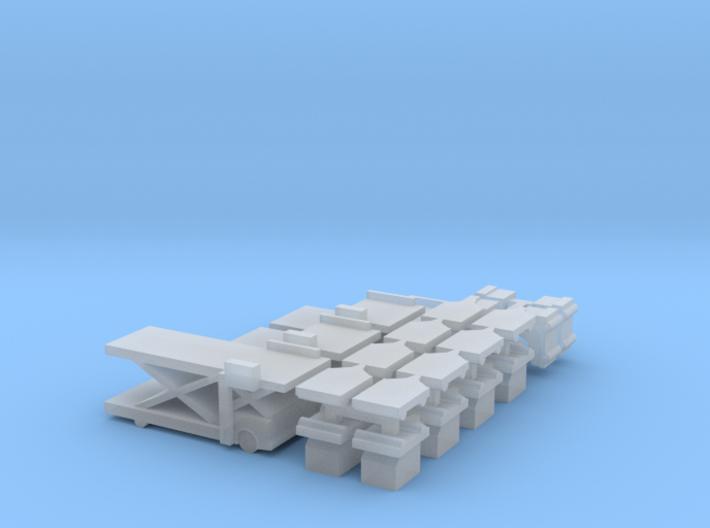 Airport Cargo Lift Set 3d printed