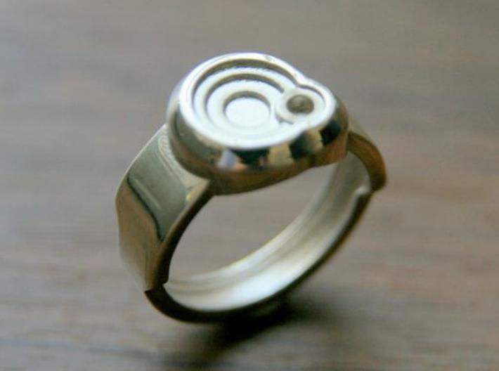Circle Ring 3d printed This material is Polished Silver
