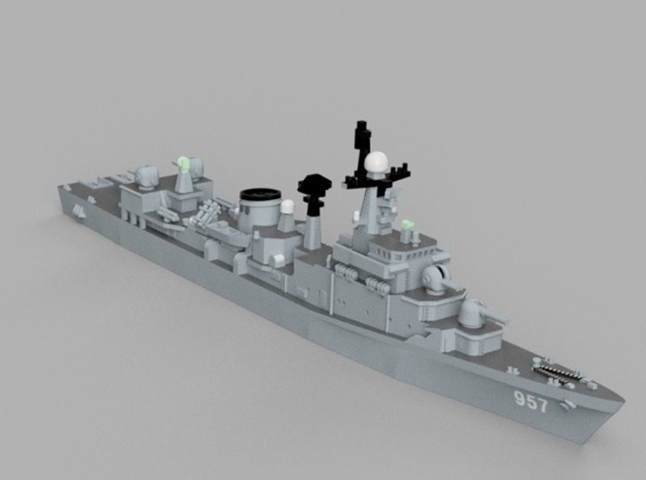 1/1250 ROKS Jeonnam 3d printed Computer software render.The actual model is not full color.