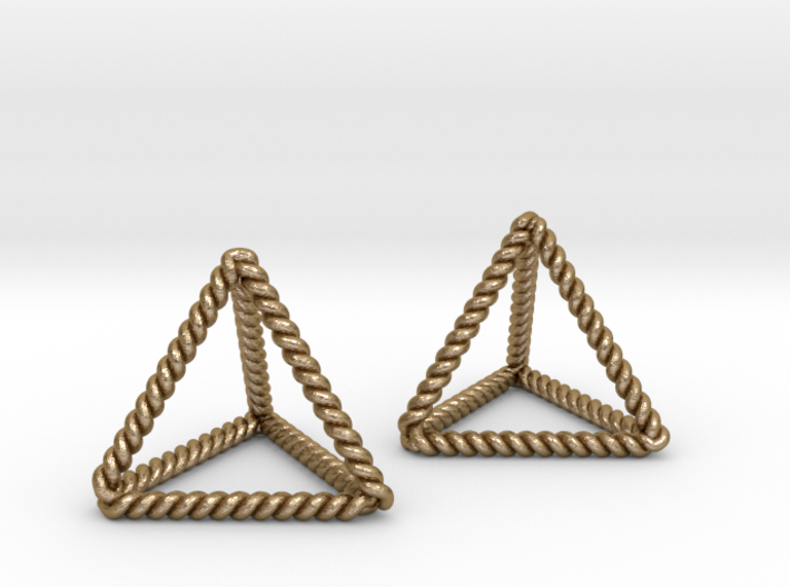 Twisted Tetrahedron Pair 3d printed