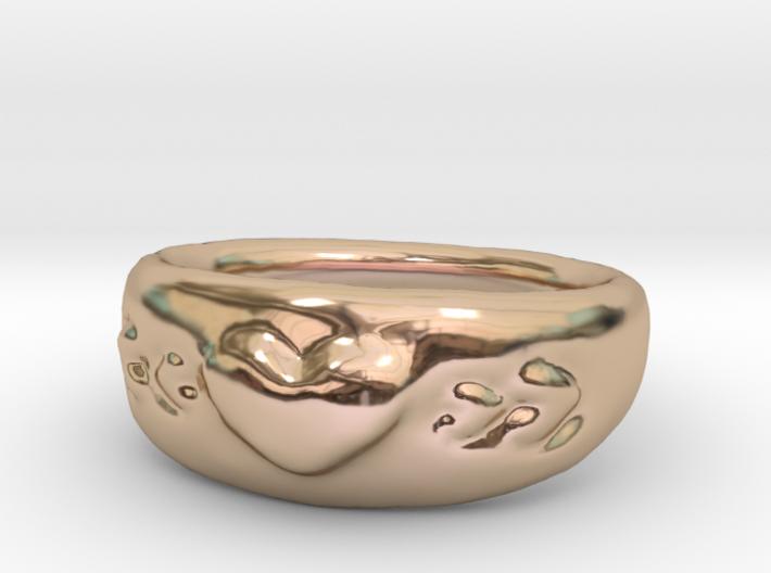 Heart Ring sz8 3d printed