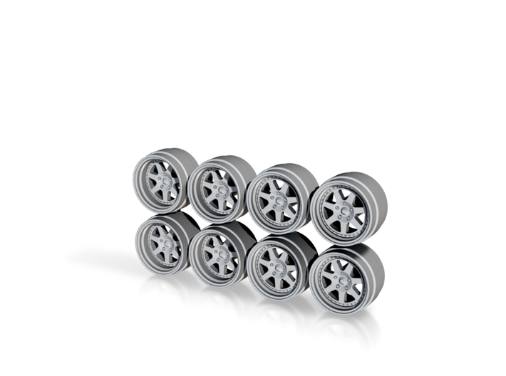 Mugen M7 Rebarreled Look Hot Wheels Rims 3d printed