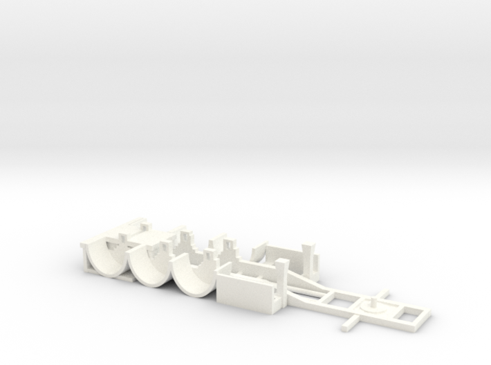 tank container chassis trailer 1-87 HO scale 3d printed