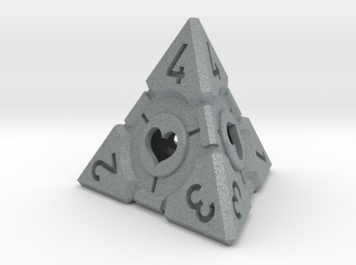 Companion Cube D4 - Portal Dice 3d printed
