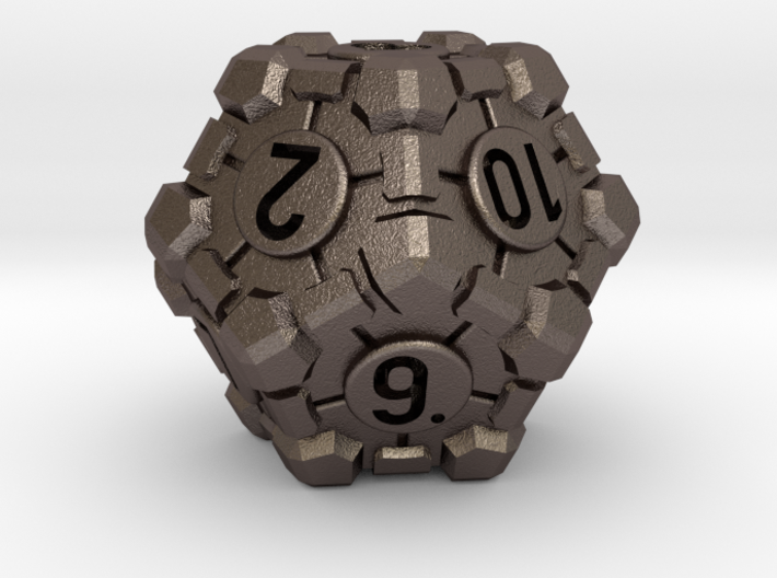 Companion Cube D12 - Portal Dice 3d printed