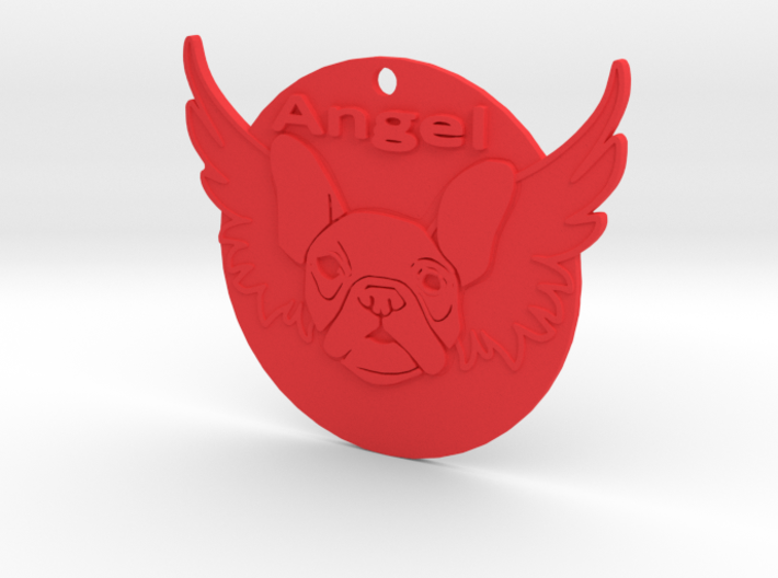 Bulldog angel 3d printed