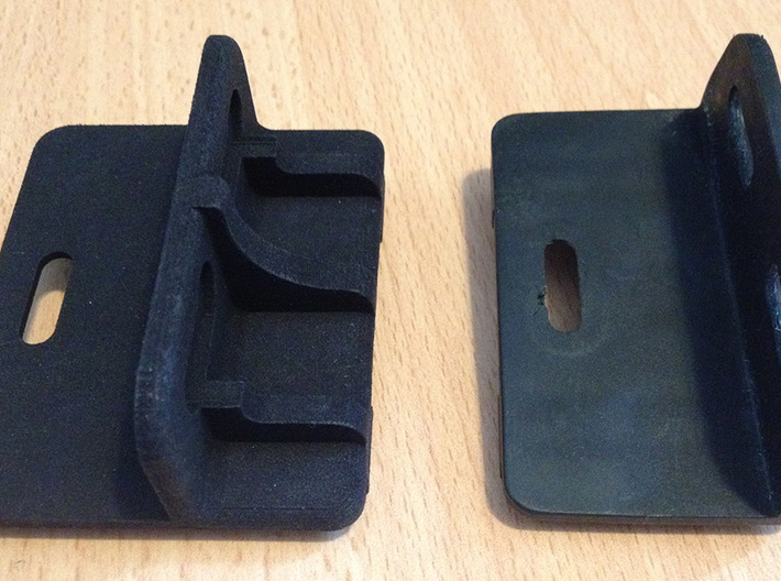 Gate Bracket 3d printed Printed part (left) shows bracing for extended reach