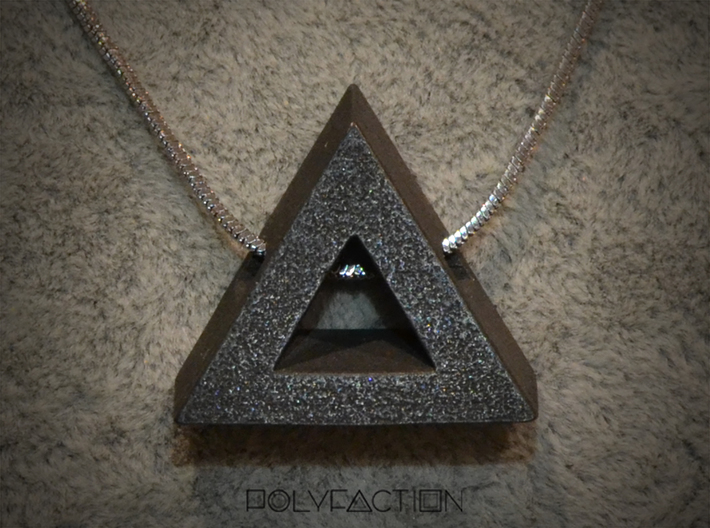 40 Degree ::: Triangle Pendant ::: v.01 3d printed
