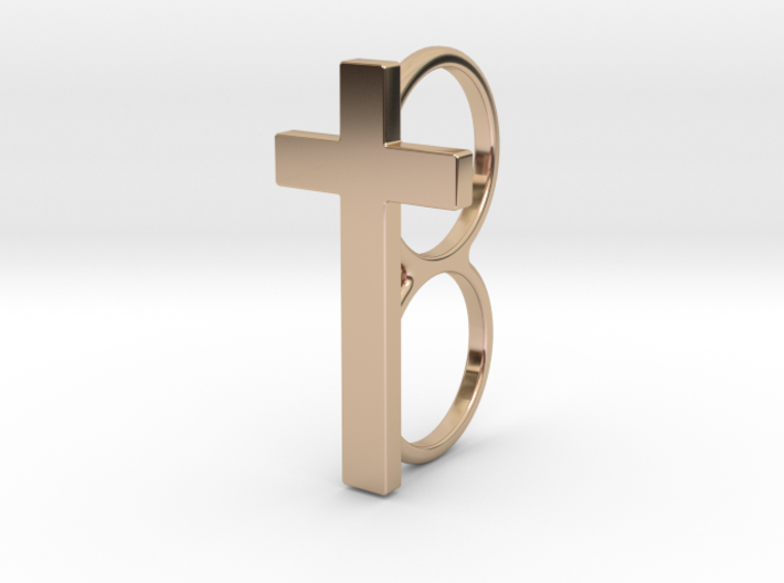 Double Cross Ring 3d printed