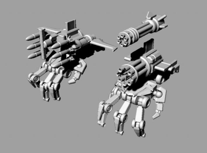 ROTF voyager Starscream poseable hands 3d printed Weapons mounted.