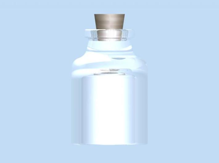 Bottle 3d printed Render