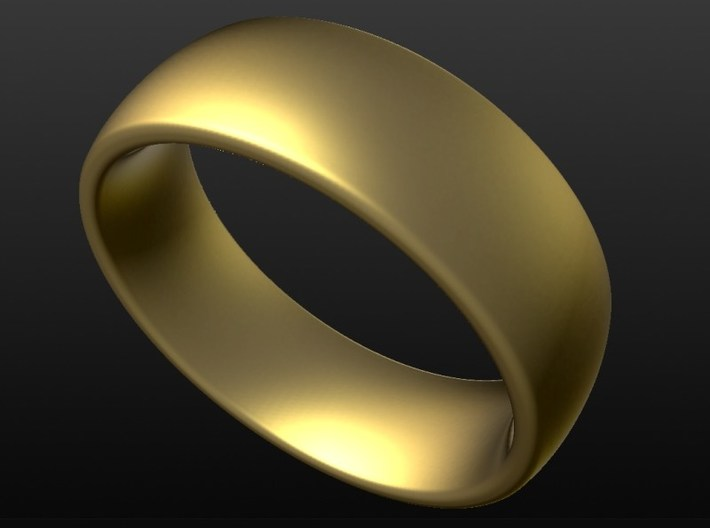 Wedding ring for female 18mm 3d printed