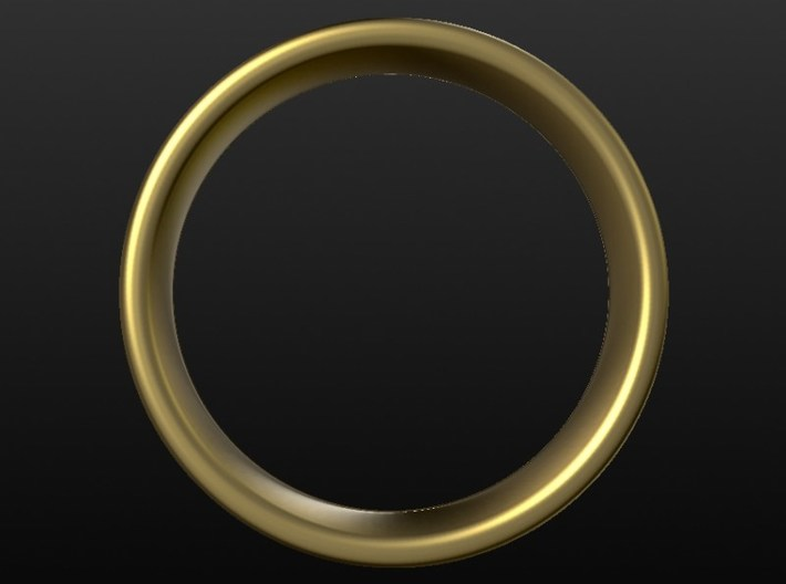 Wedding ring for female 17mm 3d printed