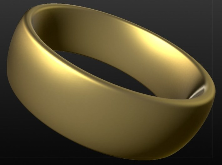 Wedding ring for male 21mm 3d printed