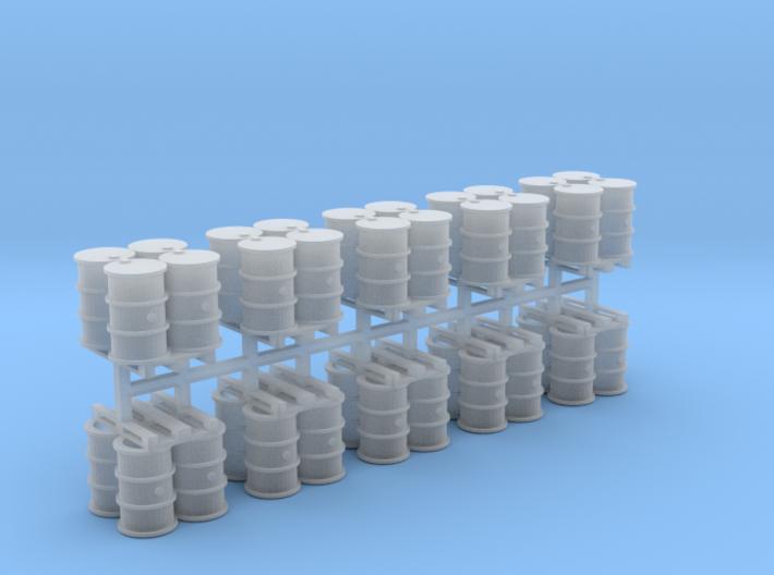 200 Liter 4 Fässer auf Europalette 10er Set - 1:87 3d printed